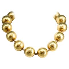 TIFFANY & CO. PALOMA PICASSO Bold Gold Bead Necklace