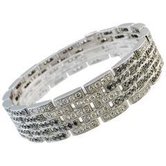 Cartier Black and White Diamond Maillon Panthere Bracelet