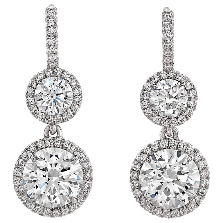 2.24 Carat  Diamond Drop Earrings