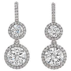 2.24 Carat  Diamond Drop Earrings