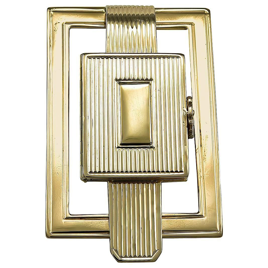 Art Deco Gold Money Clip with Secret Compartment - S&S Timms ...