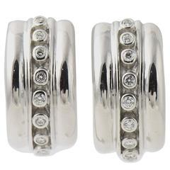 Marlene Stowe Diamond Gold Hoop Earrings