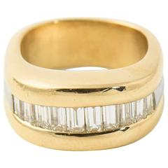 Jean-Francois Albert Diamond Gold Band Ring