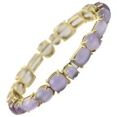 Roberto Coin Shanghai Amethyst Gold Bangle Bracelet