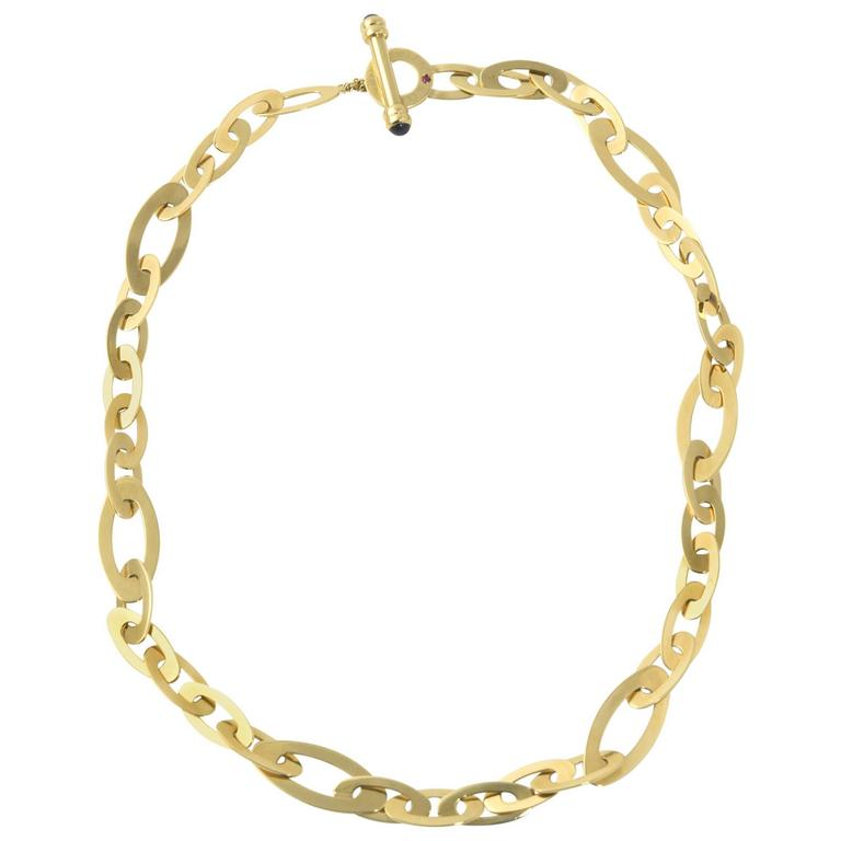 Roberto Coin Shine and Chic Collection Gold Link Necklace