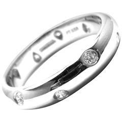 Tiffany & Co. Etoile Diamond Platinum Band Ring