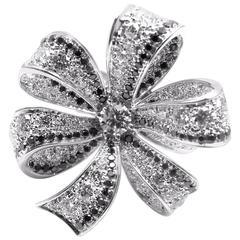 Chanel 1932 White And Black Diamond White Gold Ring