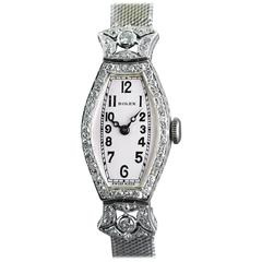 Rolex Ladies White Gold Diamond Wristwatch, 1926