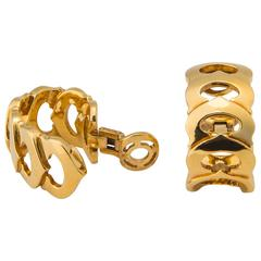 Cartier C Collection Gold Hoop Earrings