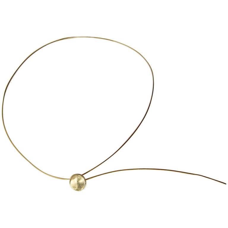 Betty Cooke Gold American Modernist Dot Necklace For Sale