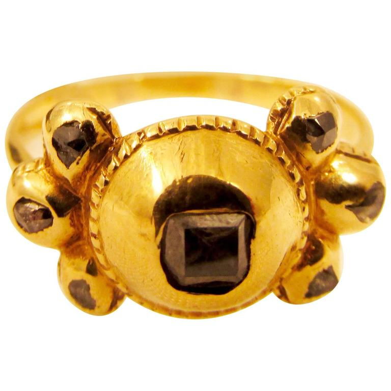 Antique Diamond Gold Spanish Ring