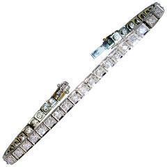1950s Diamond Gold Straight line bracelet