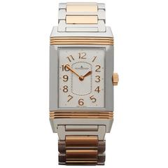 Jaeger-LeCoultre Rose Gold Stainless Steel Reverso Ultra Thin Grande Wristwatch