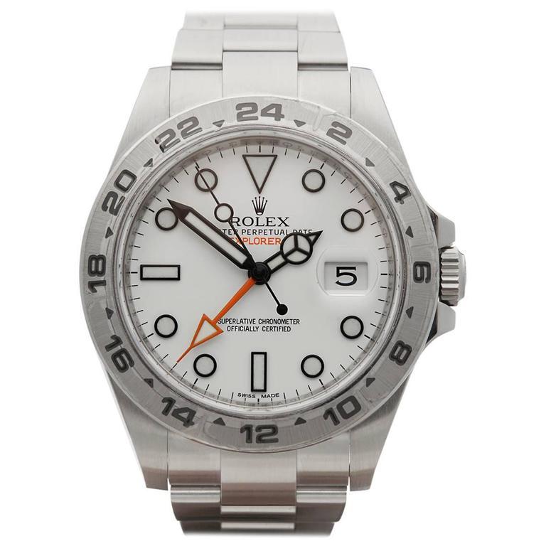 Rolex Explorer II orange hand xl 42mm gents 216570 watch ...