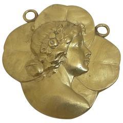 Marcus & Co Art Nouveau Figural Pendant in 18K Gold