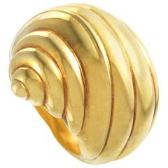 Chanel Yellow Gold Seashell Ring