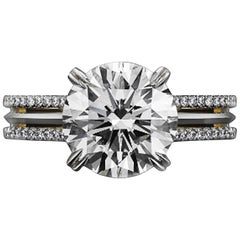 Alexandra Mor Signature Brilliant-Cut 1.05 Carat Diamond Engagement Ring