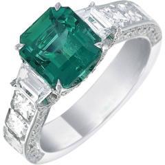 5.80 carat Emerald Diamond Ring