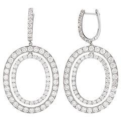 Stunning Oval Diamond Drop Earrings