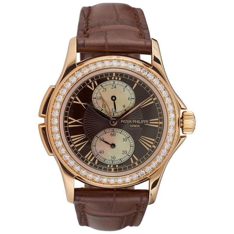 pre owned patek philippe 18k gold calatrava travel