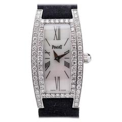 Piaget Limelight Lady's Diamond  White Gold Ref 54035 Wristwatch