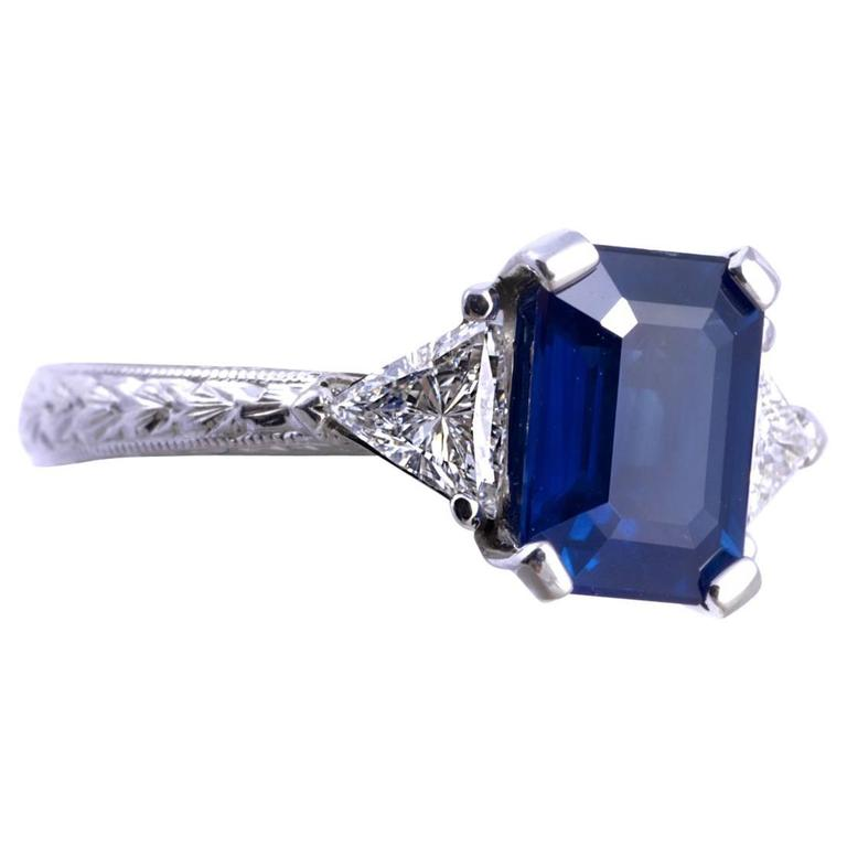 Lovely Sapphire and Diamond Ring