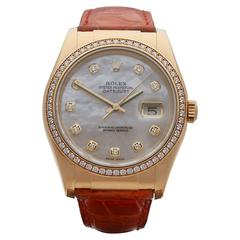 Rolex Datejust mother of pearl diamonds unisex 116188 watch