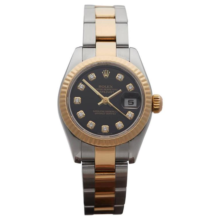 Rolex Datejust Original Diamonds Ladies 179173 Watch For Sale