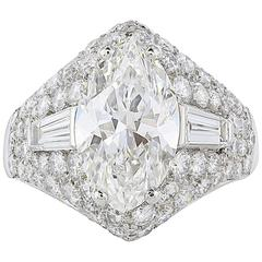 Bulgari  2.50 carat Marquise Cut GIA Certified Diamond Ring