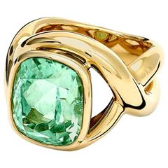 Severine Mint Tourmaline Cushion Cut Ring