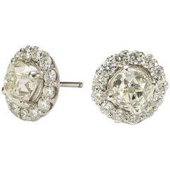 Diamond Cluster Earrings, 7.90ct