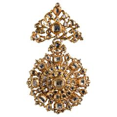 Antique 17th-Century Spanish Diamond Gold Pendant