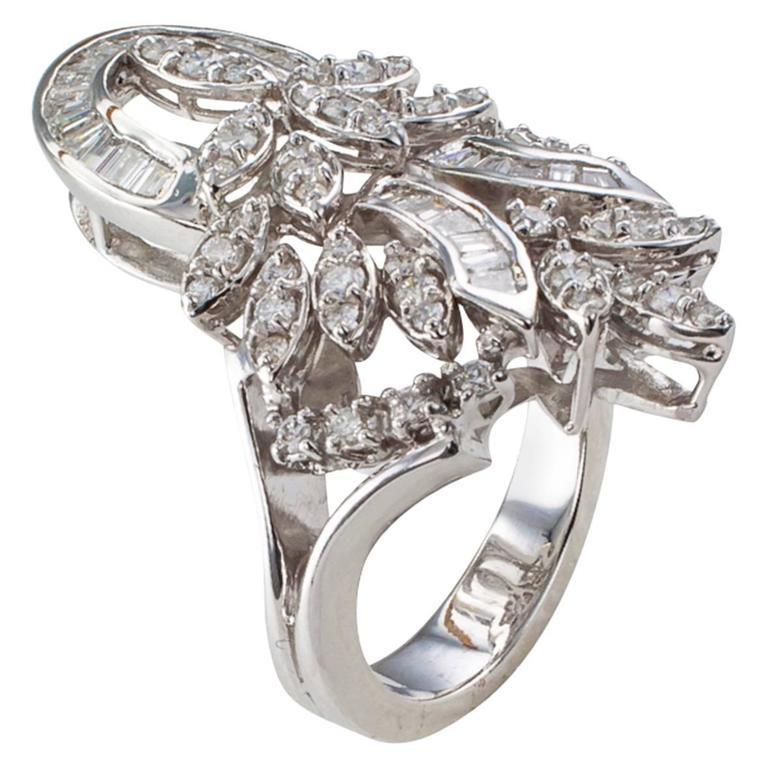 Large Diamond Gold Ring
