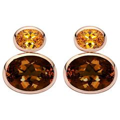 Colleen B. Rosenblat Smokey Quartz Citrin Earrings