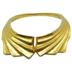 Splendid Ilias Lalaounis  Gold Collar Necklace.