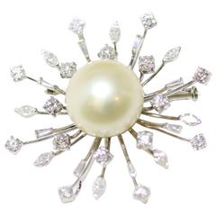 Starburst Diamond Brooch