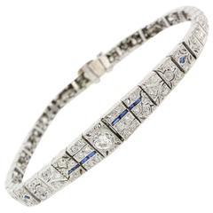 1930s Art Deco Diamond and Platinum Bracelet