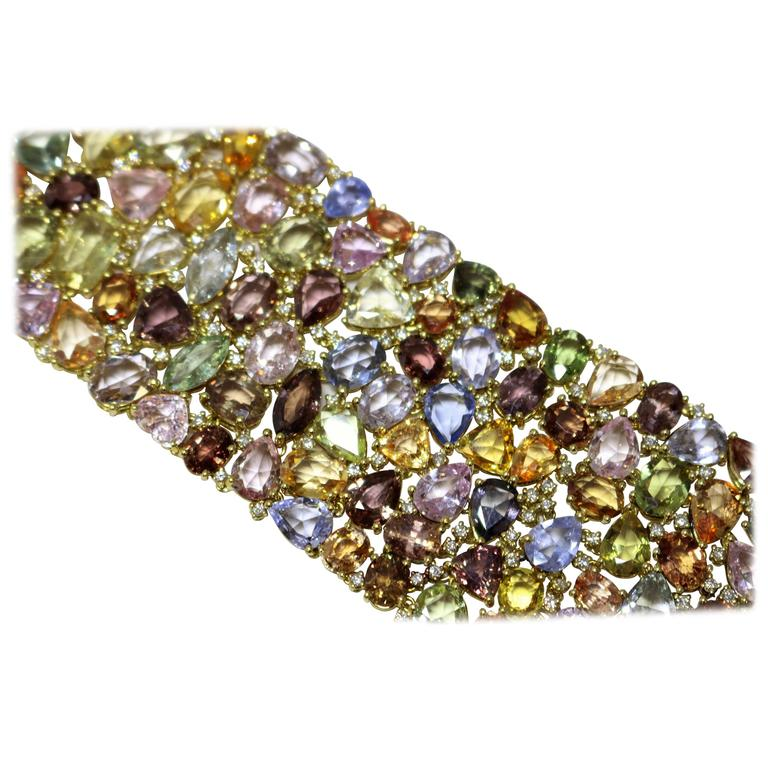Multicolored Sapphire Bracelet