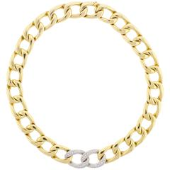 Abel & Zimmerman Diamond Open Link Necklace.