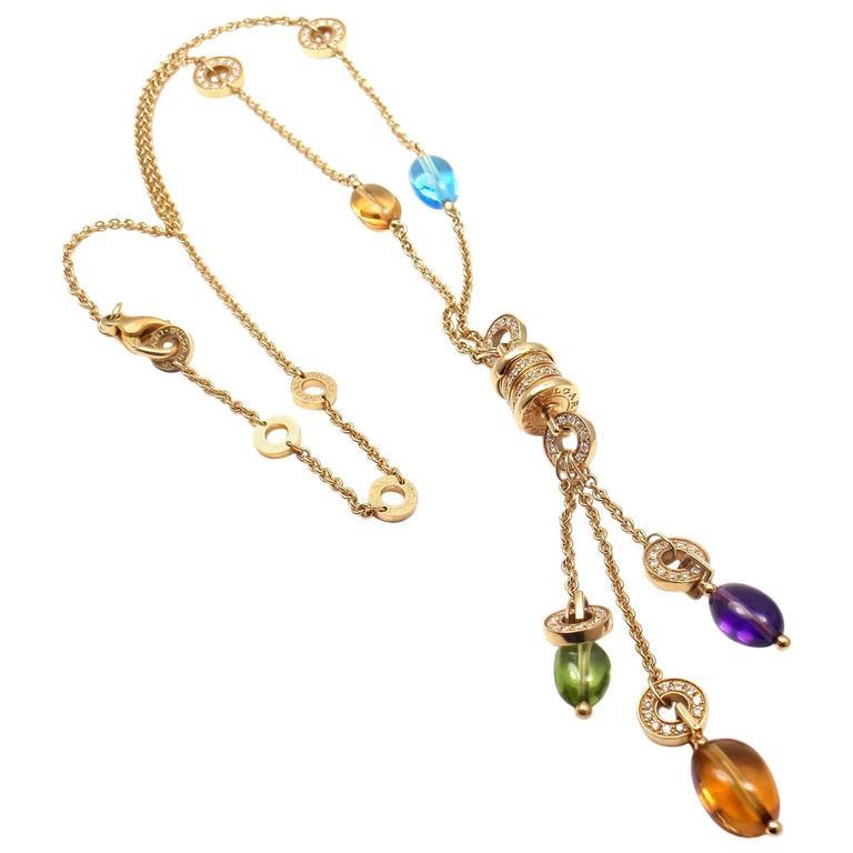 Bulgari bzero1 diamond gemstone yellow gold pendant necklace at 1stdibs bulgari bzero1 diamond gemstone yellow gold pendant necklace for sale aloadofball Gallery