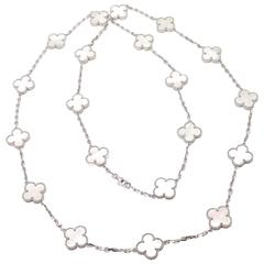 Van Cleef & Arpels Alhambra 20 Motifs Mother Of Pearl Gold Necklace