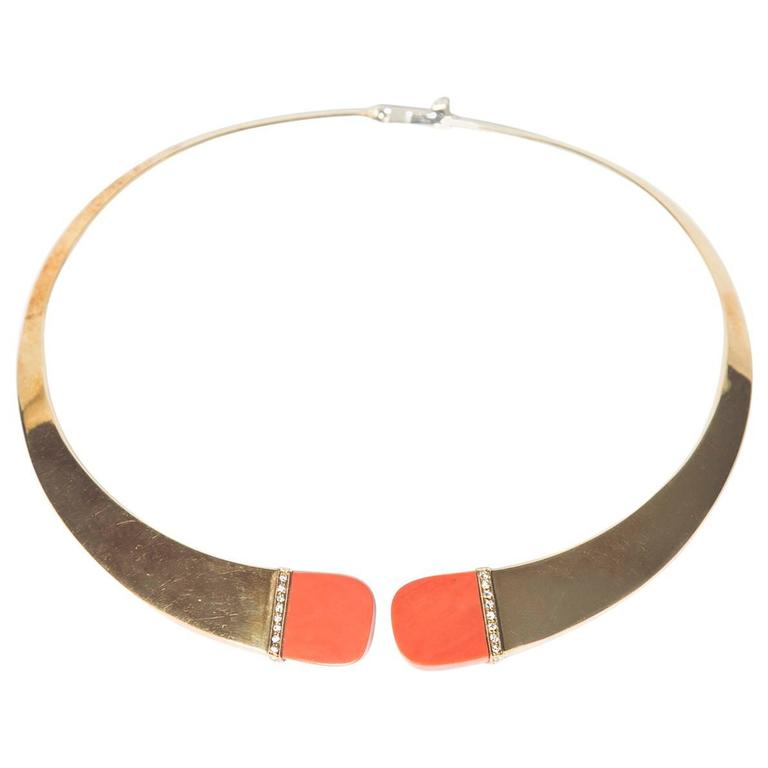 18K Gold Collar Necklace
