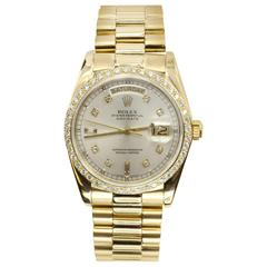 Rolex President Solid 18k Yellow Gold Original Diamond Dial and Bezel