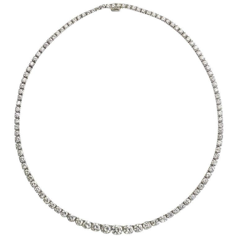 17.52ct Diamond Riviere Necklace 1
