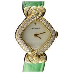 Delance Swiss Diamond & Gold Watch