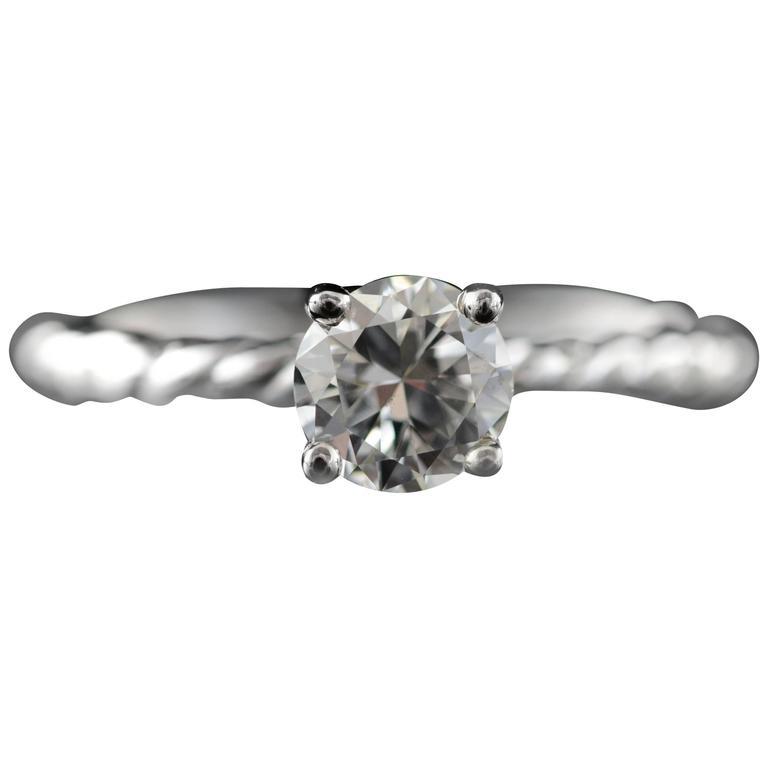 0.73 Carat Diamond Solitaire Engagement Ring