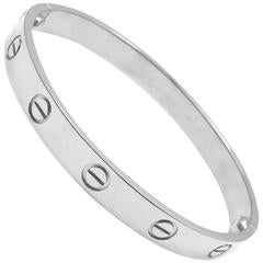 Cartier White Gold LOVEBracelet, Size 19