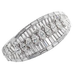 Extraordinary 40 Carat Fancy Cut Diamond Bracelet