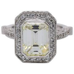 5 carat Emerald Cut Diamond Cocktail Ring
