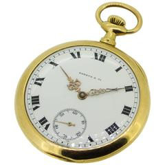 1905 Patek Philippe and Shreve and Co 18K Yellow Gold Pocket Watch